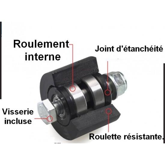 Roulettes-guides-patins de chaines YAMAHA